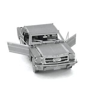 Metal Earth 1965 Ford Mustang SILVER 3D Laser Cut Metal DIY Model Build Kit