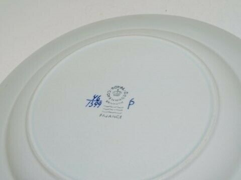 Porcelæn, Tranquebar  Frokosttallerken med skib 21