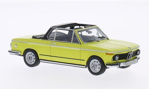 BMW 2002 (E10) Baur  Yellow  1974 (Neo Scale 1 43   43284)