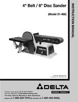 Delta Rockwell 4 Belt / 6 Disc Sander Model 31460 Instruction Manual
