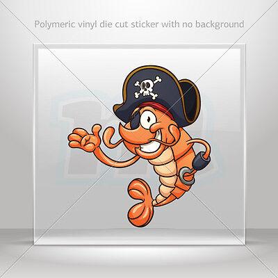 Sticker Decals Shrimp Pirate Atv Bike polymeric vinyl Garage st5 X5668