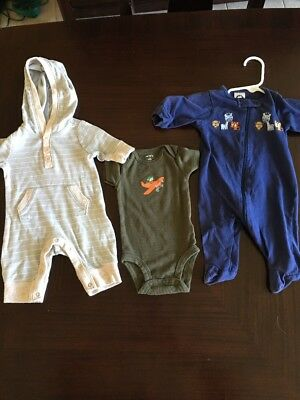 Lot Of 3 Carters Old Navy Ferber Newborn Boys Outfits Outfits & Sets