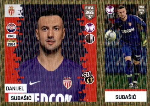 Sticker 128 a//b Panini FIFA365 2019 Danijel Subasic AS Monaco