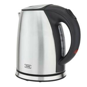Wasserkocher-Edelstahl-Silber-KHG-1-Liter-1-780-W-Trockengehschutz-Kabellos