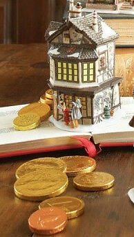 Dickens Village - Ebenezer Scrooge's House, Mini - Retired 2011 NIB NWT
