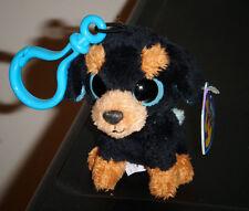 Ty Beanie Boos Key Clip ~ TUFFY the Rottweiler Dog ~ MINT with MINT TAGS ~ RARE