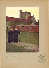 """1900s """"Eleanor Fortescue brickdale"""" stampa colorata. carattere di una vita felice"""