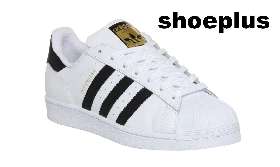 Adidas Gold Super Star blanc noir Gold Adidas Femme/Boys/Girls Trainers C77154 b9a343