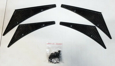 NRG Carbon Fiber Canards 4-Piece Kit Universal Fit CARB-C100
