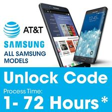 Samsung Galaxy S3 S4 S5 S6 S7 EDGE AT&T FACTORY UNLOCK CODE SERVICE Note 2 3 4 5