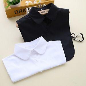 New-Women-False-Collar-Fake-Half-Shirt-Blouse-Vintage-Detachable-Cotton-Bib