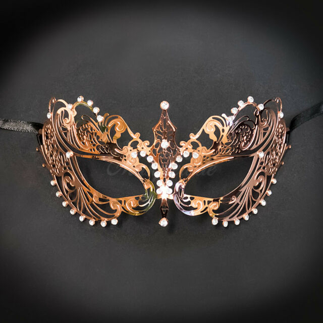 293e335f5013 Buy KBW Women's Laser Cut Metal Venetian Pretty Masquerade Mask Rose ...