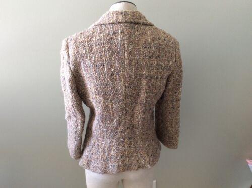 Tweed I Midje York Alpaca Angora Uld Flare Dkny Donna Jakke Karan New 6 P7xz4wR