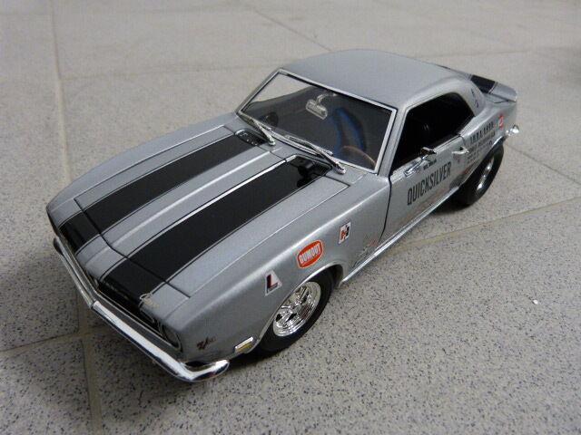 1968 Chevrolet Drag Camaro Quicksilver Plata Limitado Acme Coche a Escala 1:18