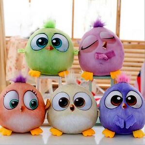 5pc Set 7 Angry Birds Plush Toys 3d Movie Small Cute Stuffed Animal