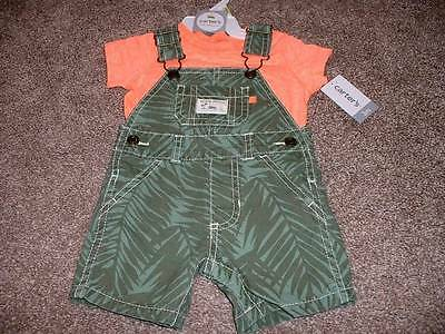 Carter's Baby Boys Beach Patrol Shortall Set Outfit Size 3M 3 Months NWT NEW 0-3
