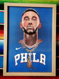 Framed-BEN-SIMMONS-Philadelphia-76ers-NBA-Basketball-Poster-62-x-44-5-x-3cm