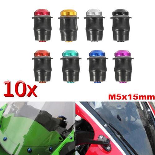 10tlg Windschild Schrauben Verkleidungsschrauben M5 Windschutzscheibe Schraubesa