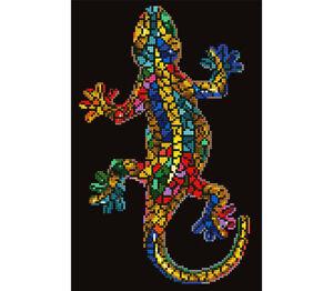 Diamond-Painting-Kit-Dotz-5D-2D-Gem-GEKKO-PAUA-27-x-41cm-Mosaic-Lizard