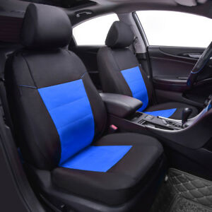 Premium-Universal-2-front-Car-Seat-Covers-Black-Blue-for-Boys-Waterproof-Oxford