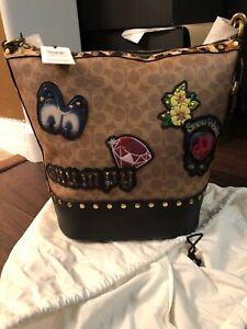 67886dbfcac3 NWT Coach X Disney Patchwork Crossbody Bag Duffle Signature Dark ...