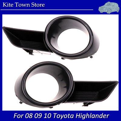 Right Side Front Bumper Fog Light Grille Cover Trim For 08-10 Toyota Highlander