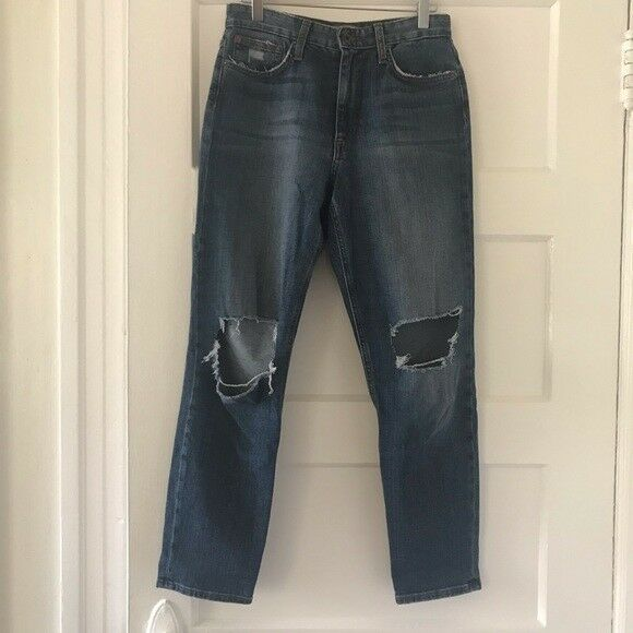 Joe's Jeans The Debbie High Rise Straight Ankle Ripped size 26