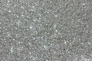 1kg Finest Silver Glitter 008-200 Size Hex Double Sided Craft Walls Wine Kilo