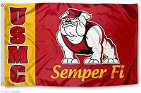 Us Marines Bulldog Usmc University Large College Flag, New, Free Shipping on Sale