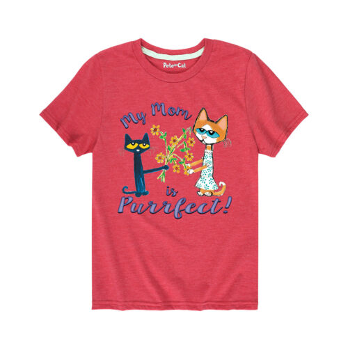 Pete The Cat My Mom Is Purrfect! Toddler Short Sleeve Tee