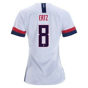 new concept 383c7 5ab43 Details about Julie Ertz #8 USA WOMENS White 2019 World Cup SOCCER JERSEY
