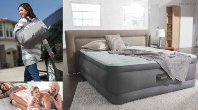 INTEX QUEEN Intex Premaire™ Dream Support Air Bed Mattress Pump & USB 64470
