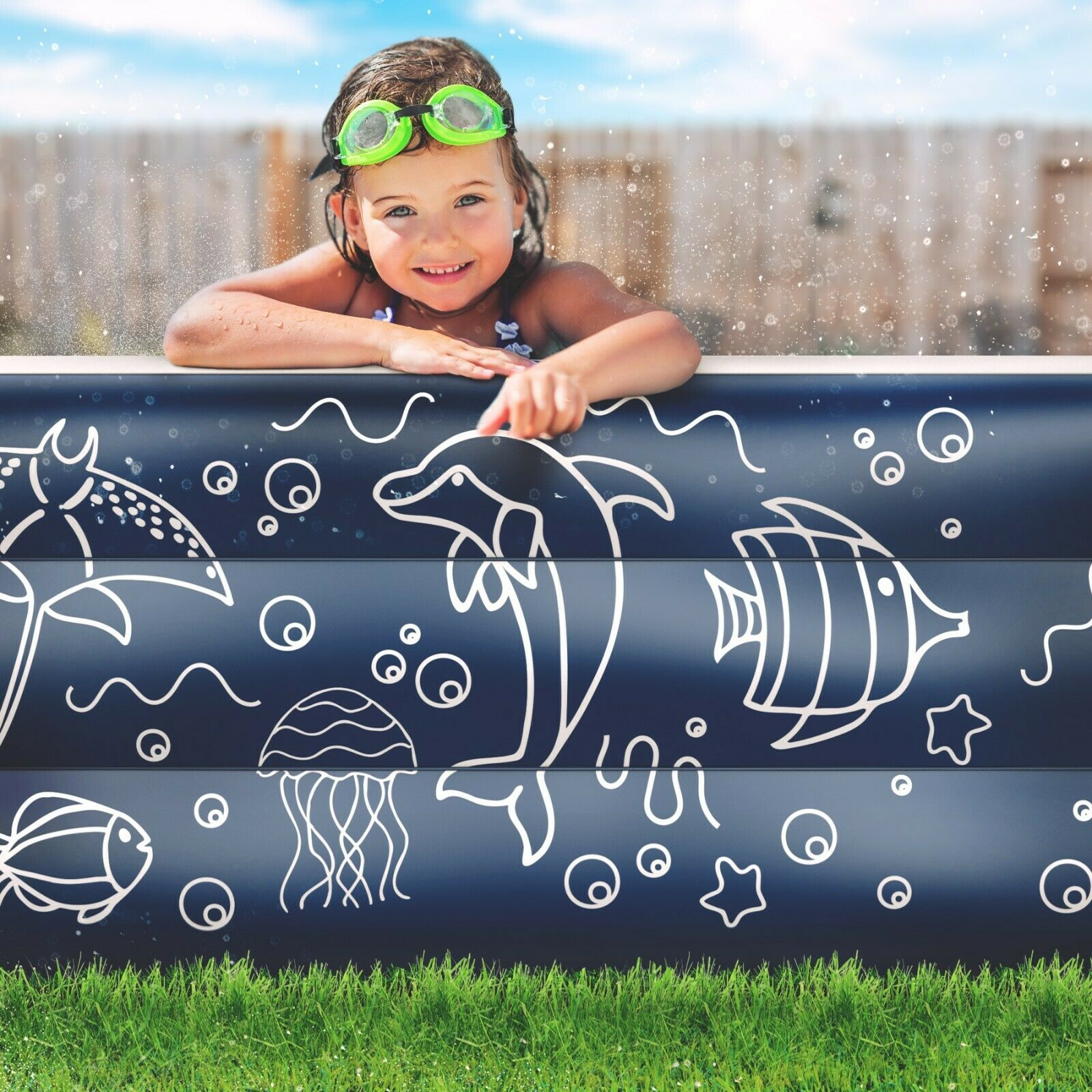 Image 11 - EXTRA-LARGE-Inflatable-Pool-Above-Ground-Swimming-Pool-for-Kiddie-Kids-22-034-Deep