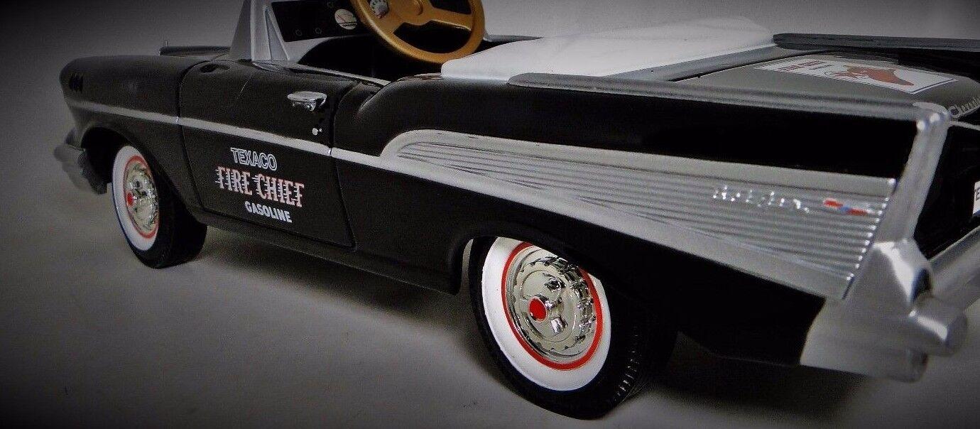 1957 Chevy Pedal bil Fire årgång BelAir Metal samlaor Blk    BESKRIVNING AV LÄSAREN
