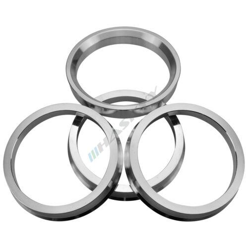 4x Aluminium Bagues de centrage en aluminium //// taille 72,5-66,6