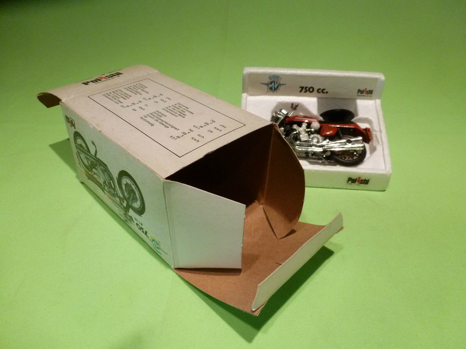 POLISTIL POLISTIL POLISTIL POLITOYS GT 55 MV AUGUSTA  750 - 1 24  - VERY GOOD CONDITION - IN BOX 7b7c3f