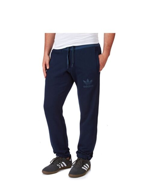 adidas Mens Navy Blue Sport Essentials Sweat Pants Joggers Ab7580 Size S