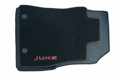 Nissan Juke Genuine Car Floor Mats Luxury Tailored Carpet Front+Rear x4 Red