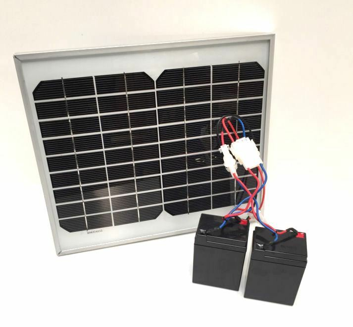 Lake Reaper Battery & Solar Panel Bundle Omvat 2 USB-poorten voor Phone Ect