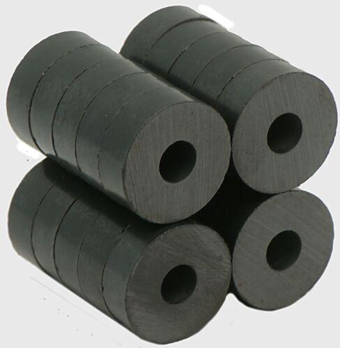 "Grade Ceramic//Ferrite Magnet 3//4/""OD X 1//4/""ID X 1//4/"" thick Ceramic Ring"