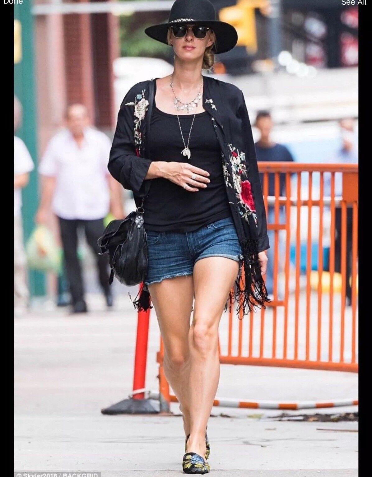 Zara Boho Embroiderot Kimono Blazer With Fringe Größe M Uk 10 Seen On Celebrities
