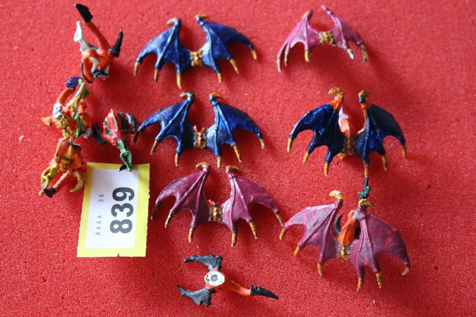 Games Workshop Warhammer 40k Tyranids Gargoyles Metal x6 Painted 1st Edition OOP