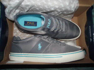 POLO RALPH LAUREN GREY HANFORD TRAINERS SIZE 7 NEW IN BOX   eBay 5ff6e841679