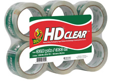 Duck Hd 6 Pack Clear Heavy Duty Packing Tape Refill 188 Inch X 546 Yard New