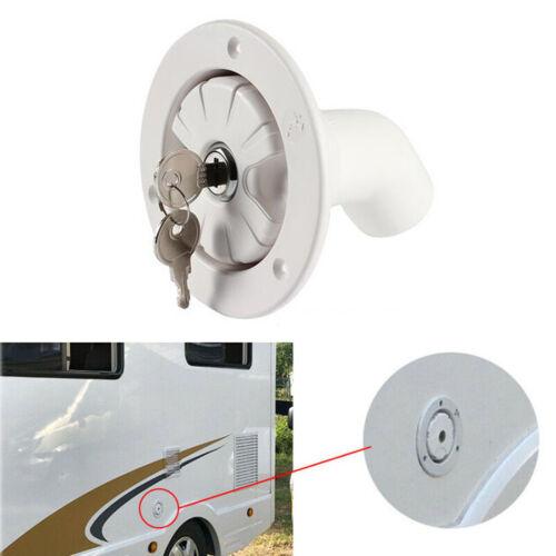 Car Fresh Water Lock Inlet Hatch Filler Cap Tank For Caravan Motorhome RV Camper