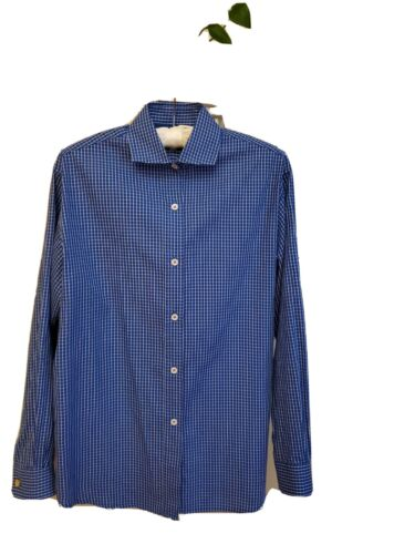Classic Vintage Burberry Womens size 6 Blue&White