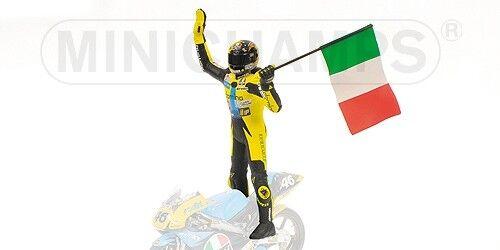 Valentino Rossi Standig Figure w/ Flasg GP 125 1996 1996 1996 1:12 Model MINICHAMPS | Des Performances Fiables  6f7ee5