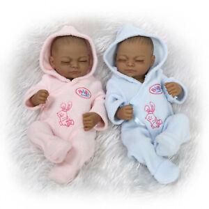 11 Full Silicone Vinyl Reborn Baby Doll Black Boy Girl Twins Parentage Clothes Ebay