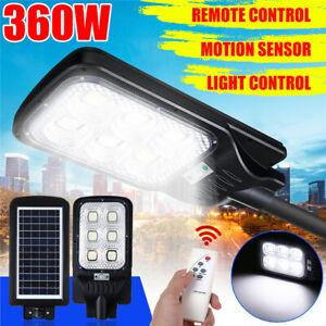 360W-LED-Solare-Strada-Luce-Movimento-Induzione-Sensore-Giardino-Esterno-Muro