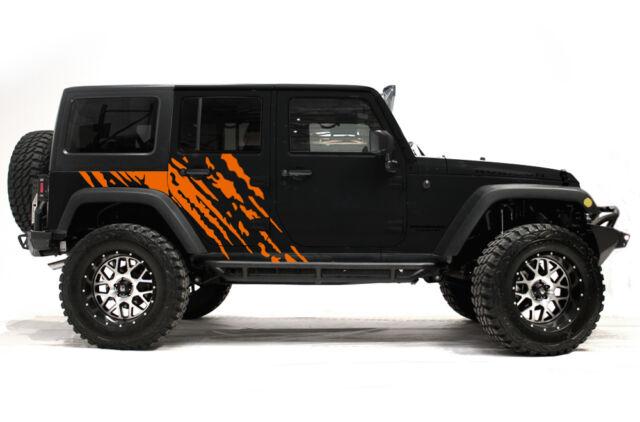 Vinyl Decal Wrap Kit Fits 4 Door 2007 2016 Jeep Wrangler Rubicon Splash